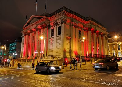 Hotel de ville de Dublin de nuit