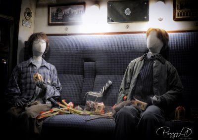 Mannequins dans le train