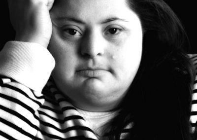 Portrait noir et blanc de Sonia