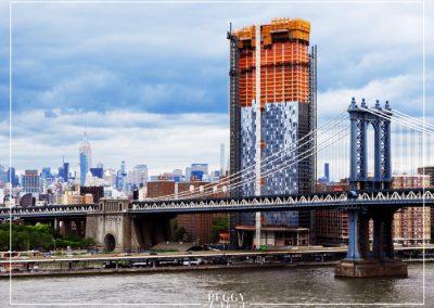 Pont de manhattan vue de Brooklyn bridge