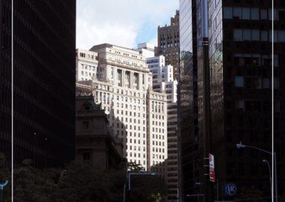 Soleil entre les immeubles