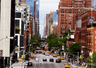 Vue sur la rue de la High Line